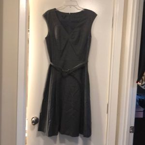Gray woven Talbots tennis dress